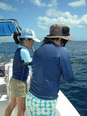 ひびきちゃん西表島で初釣り