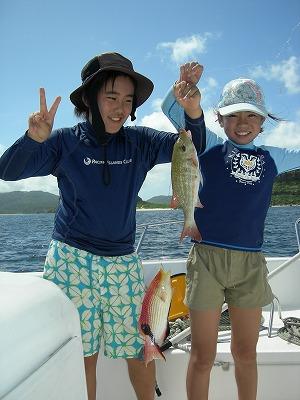 西表島でダブル釣り