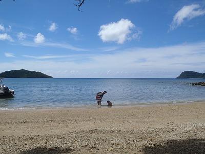 西表島のプライベートビーチ