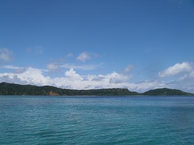 夏空の西表島