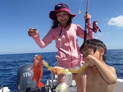 今年3回目のリピーターこうちゃんと西表島で釣り&シュノーケリング