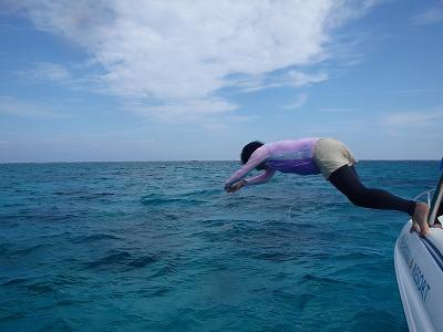 西表島で4日間の貸切ボートチャーターシュノーケリングファミリー様