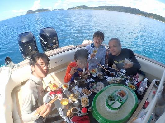 西表島でセレブな貸切ボートチャーターランチならメラマウリゾート