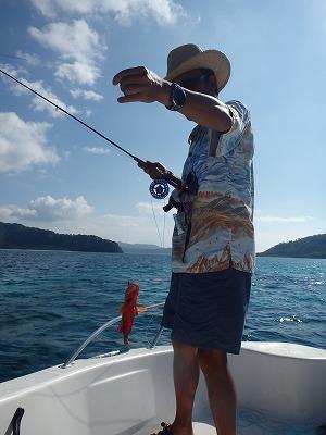 カズ君の西表島貸切ボートチャーターツアーで初のフライフィッシング