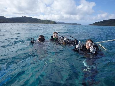 とっても仲良しアヅ君チーちゃんファミリー皆さんと貸切ボートで貸切体験ダイビング!